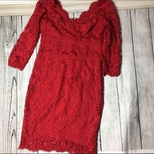 Tadashi Shoji Dresses & Skirts - 🆕WOT absolutely stunning red lace dress ❤💋