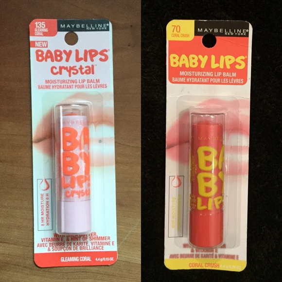 Maybelline - Baby Lips!!! Coral Crush #70 & Crystal Coral ...
