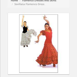 Flamenco dress red and black