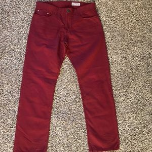 Howe Other - Howe Fast Living Twill Pant - Deep Red - 34x31.5