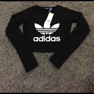 Adidas Tops - Adidas Long Sleeve Crop Top