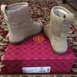 Tory Burch Alana Quilted Shearling Fur Bootie