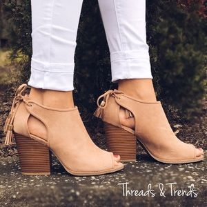 Threads & Trends Shoes - Peep Toe Sandal Booties
