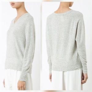 Vince Sweaters - Vince Gray Cashmere V Neck Sweater