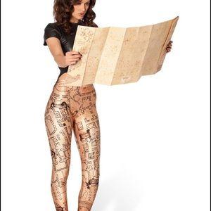 Blackmilk Pants - Black Milk Harry Potter Marauder's Map Leggings