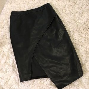 blaque label Dresses & Skirts - Blaque label soft vegan leather skirt