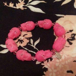 Tarina Tarantino Jewelry - Tarina Tarantino iconic pink skull lucite bracelet