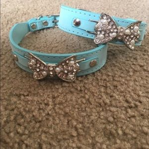 Accessories - Tiffany blues dog collars .
