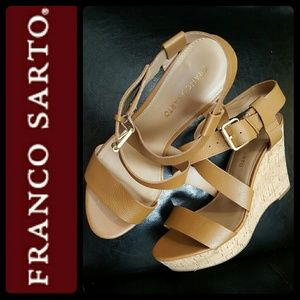 Franco Sarto Shoes - Franco Sarto Leather Wedge Sandals