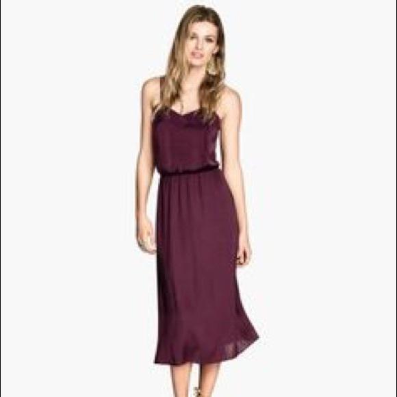 afd36fdf94ba H M Dresses   Skirts - Wine colored midi dress