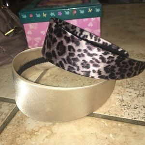Accessories - Leopard and ivory silk thick headbands
