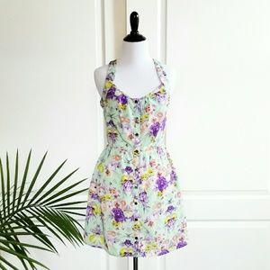 Mimi Chica Dresses & Skirts - Mimi Chica Mint Floral Sun Dress