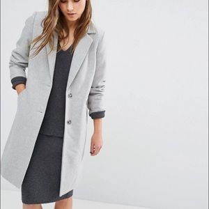 ASOS NEW LOOK SMART TAILORED LONG LINE COAT US 4