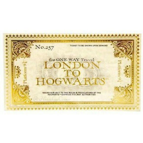 Official Universal Studios Hogwarts Express Ticket Nwt