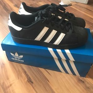 Adidas Other - Adidas Black Super Star sneakers