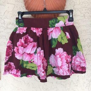 Floral Mini Circle Skater Skirt