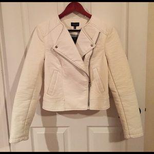 Topshop Jackets & Blazers - Nwt Topshop white faux leather jacket sz US6