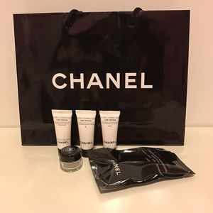 CHANEL Other - Chanel travel mascara/skincare bundle w/ bag