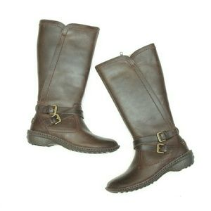 UGG Shoes - New Ugg Rosen Tall Leather Zip Up Boots Fur Lined