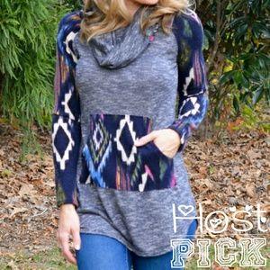 HP Tribal Print Knit Sweater. NWOT.