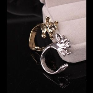 Jewelry - Silver French? Bullgdog dog ring
