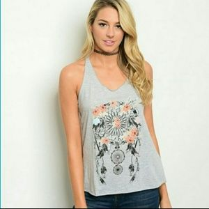 WILA Tops - Floral Dream Catcher Tank top