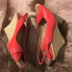Banana Republic Shoes - Banana republic orange wedges size 8