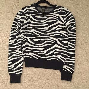 Forever 21 Sweaters - Forever 21 Zebra Print Sweater