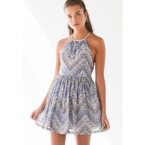 UO Ecote Printed Midi Dress