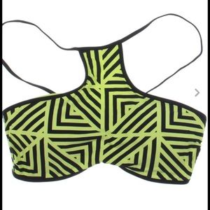 Seafolly Other - SEAFOLLY Lime Splice Tank Tie Back Swim Top