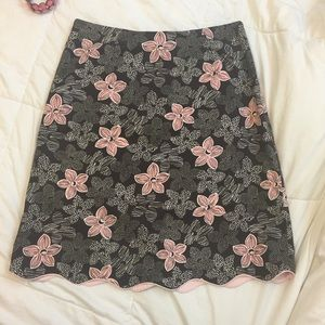 HP  Harold's Floral A line Skirt Size:  6