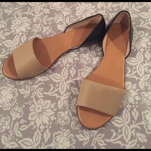 J. Crew Shoes - J. Crew peep toe d'orsay flats 👡