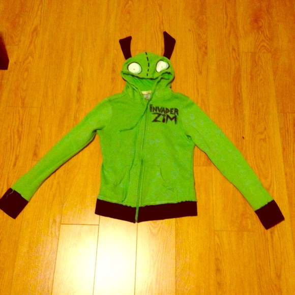 Mighty Fine Tops Invader Zim Gir Cosplay Costume Green Fleece Hoody Poshmark
