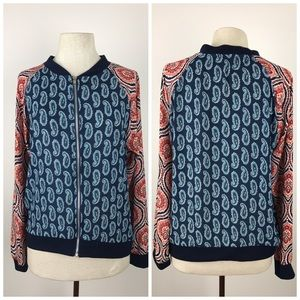 Pink Rose Tops - ✨$7 SALE!✨Paisley Light Zip Up Blouse