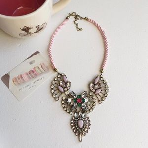 Blush and crystal necklace!