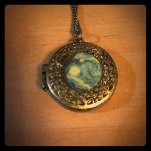 "Hot Topic Jewelry - Van Gogh ""Starry Night"" Hot Topic Locket"