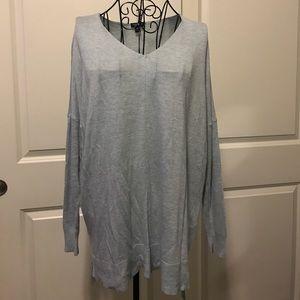 torrid Tops - Torrid Light Blue Oversized Long Sleeve