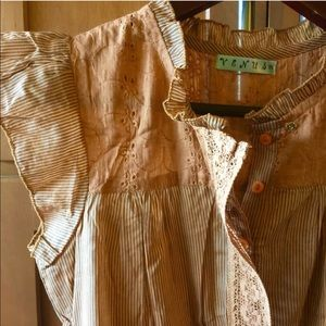 Venus Tops - Venus striped lace blouse