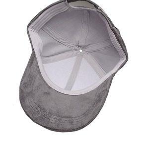 d095e5f7d10 golden dreams Accessories - DARK GREY SUEDE BASEBALL CAP