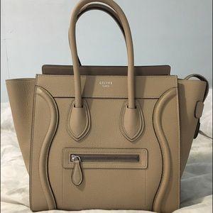 Celine Handbags - BNWT Celine Micro Luggage - Dune