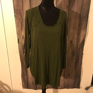 Phanuel army green long sleeve tunic