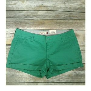 SO Pants - Eden Green Shortie Shorts