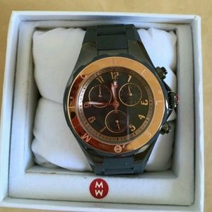 Michele  Accessories - NWT Michele Gray rose gold Rubber watch