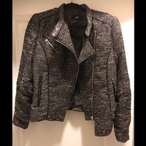 H&M Tweed Motorcycle Style Jacket