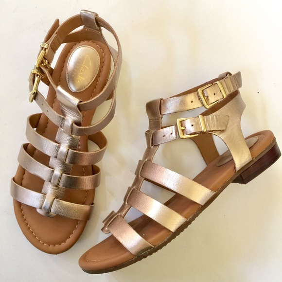 44f349a58 Clarks Shoes - Clarks Artisan Strappy Leather Gladiator Sandal 7