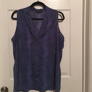 Violet & Claire Tops - Snake skin printed sleeveless blouse