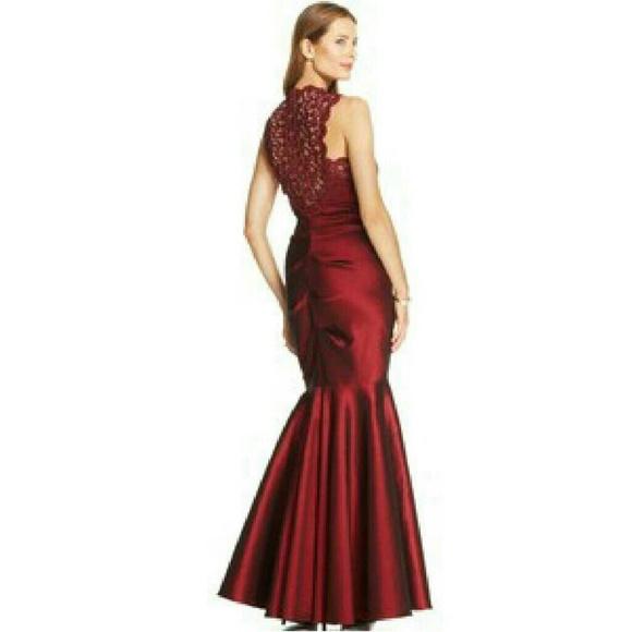 Xscape Dresses | Final Salex Scape Burgundy Mermaid Dress | Poshmark