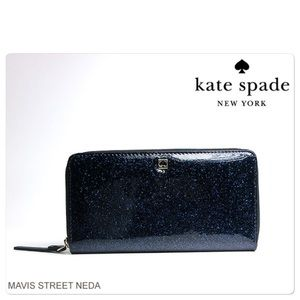 NWT Kate Spade Mavis Offshore Wallet in deep blue