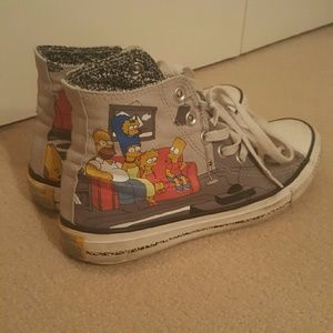 Converse Shoes - Simpsons converse high tops