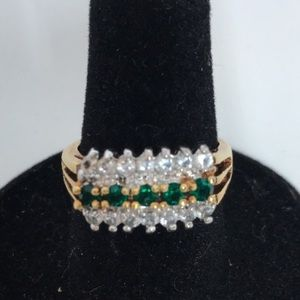 Jewelry - Diamond & Emerald CZ Ring